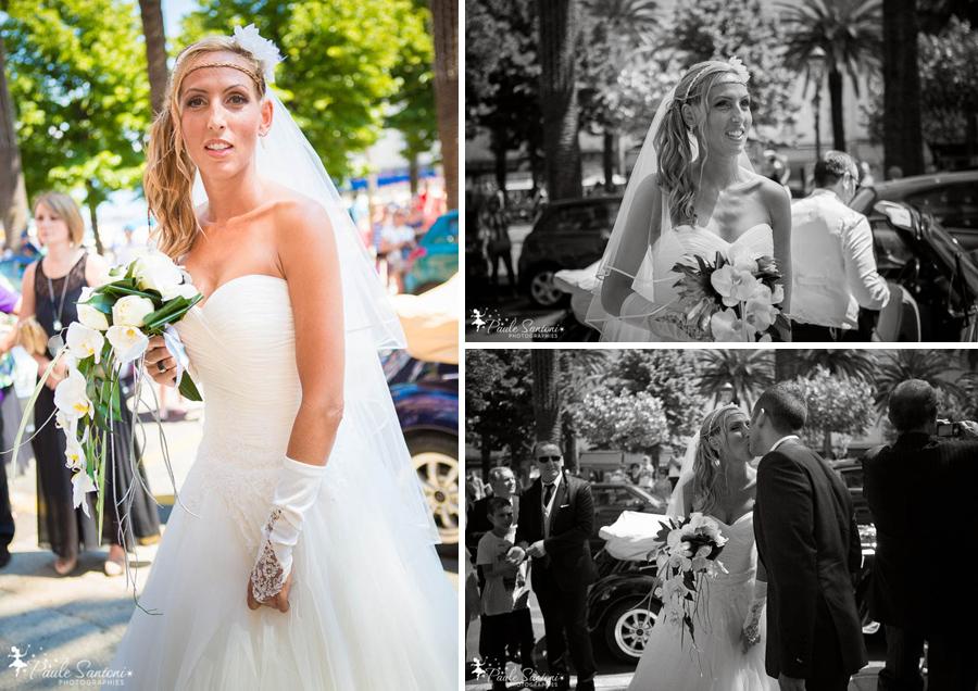 arrivée de la mariée à la mairie d'ajaccio