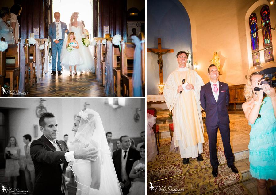 arrivée à l'église du sacré choeur des mariés