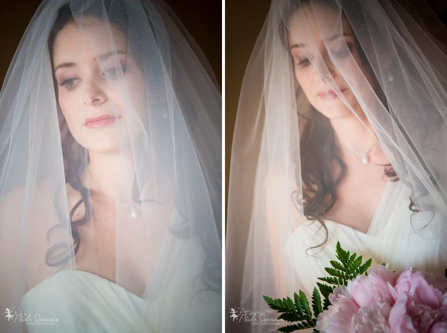jolie mariée avec son voile