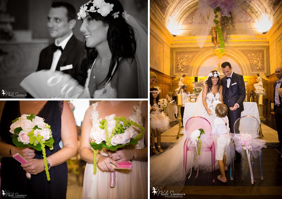mariage de aurelia et christophe mondoloni a l'eglise d'afa